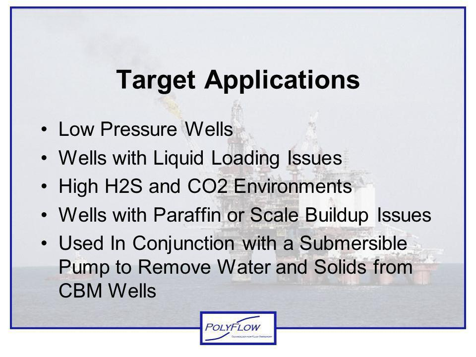 Target Applications Low Pressure Wells