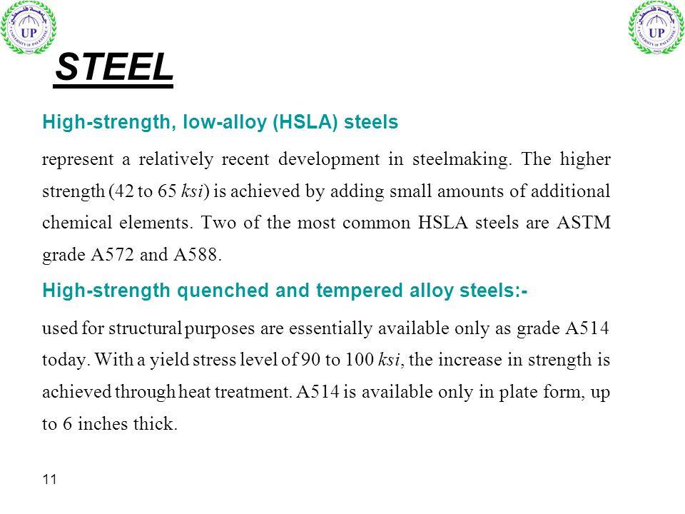 STEEL High-strength, low-alloy (HSLA) steels