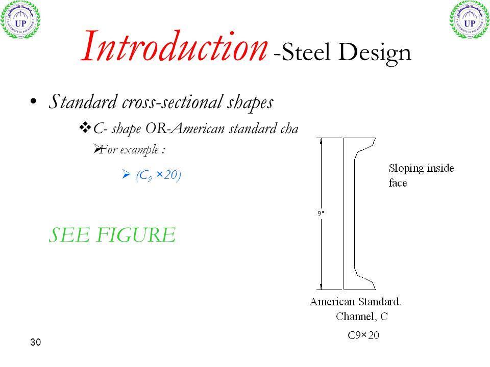 Introduction -Steel Design