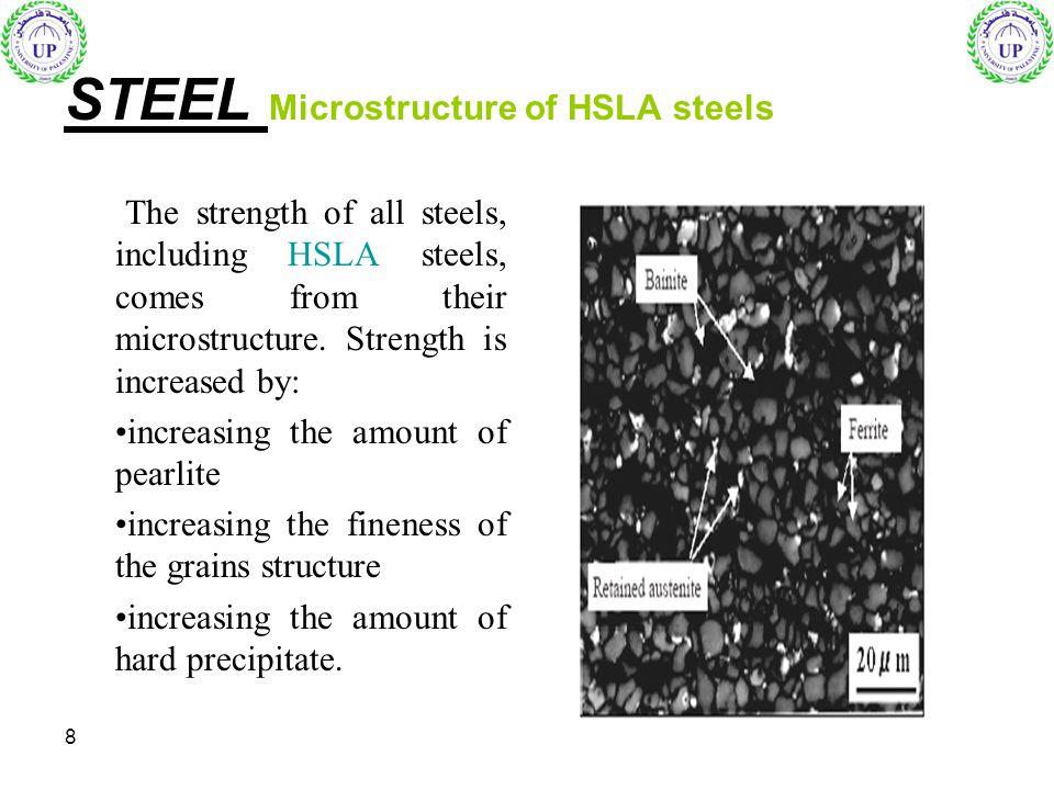 STEEL Microstructure of HSLA steels