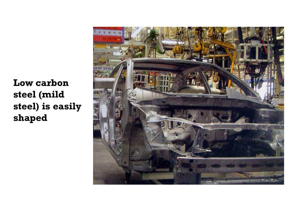 Low carbon steel (mild steel) is easily shaped