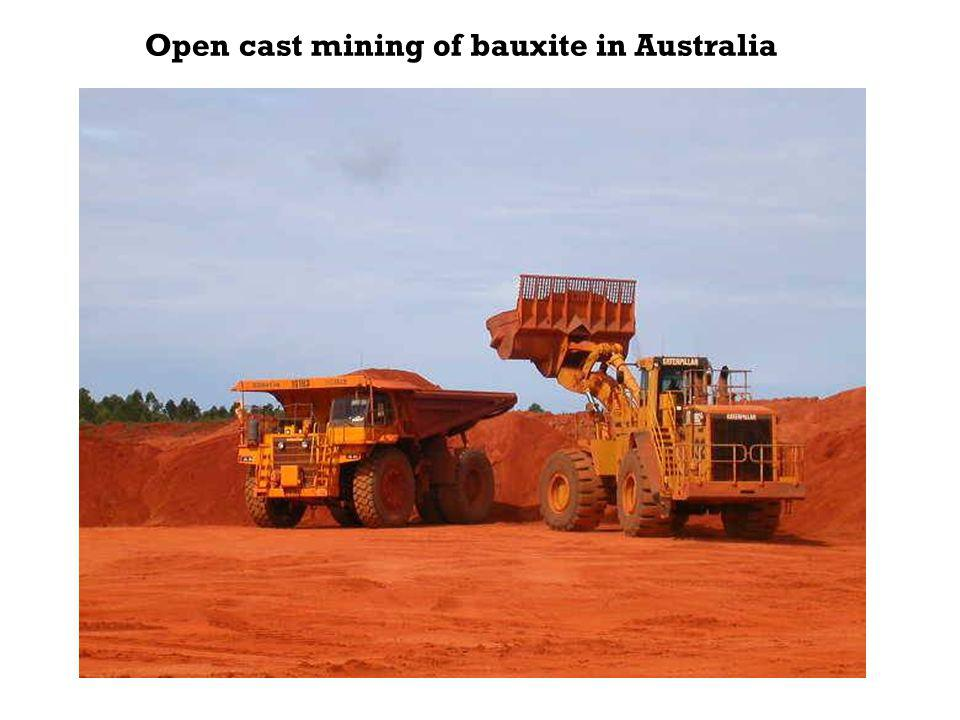 Open cast mining of bauxite in Australia