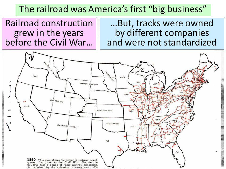The railroad was America's first big business