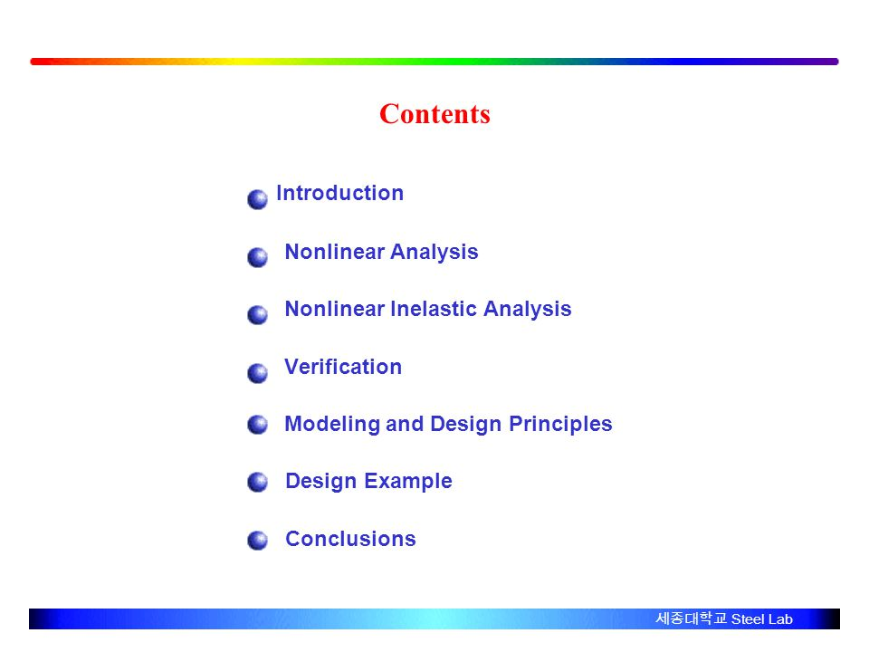 Contents Introduction Nonlinear Analysis Nonlinear Inelastic Analysis