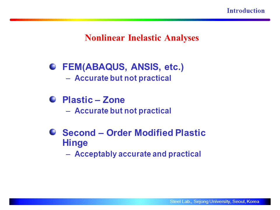 Nonlinear Inelastic Analyses