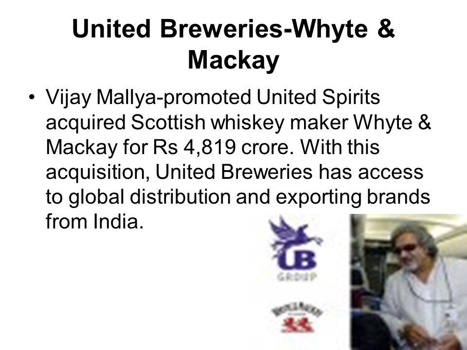 United Breweries-Whyte & Mackay