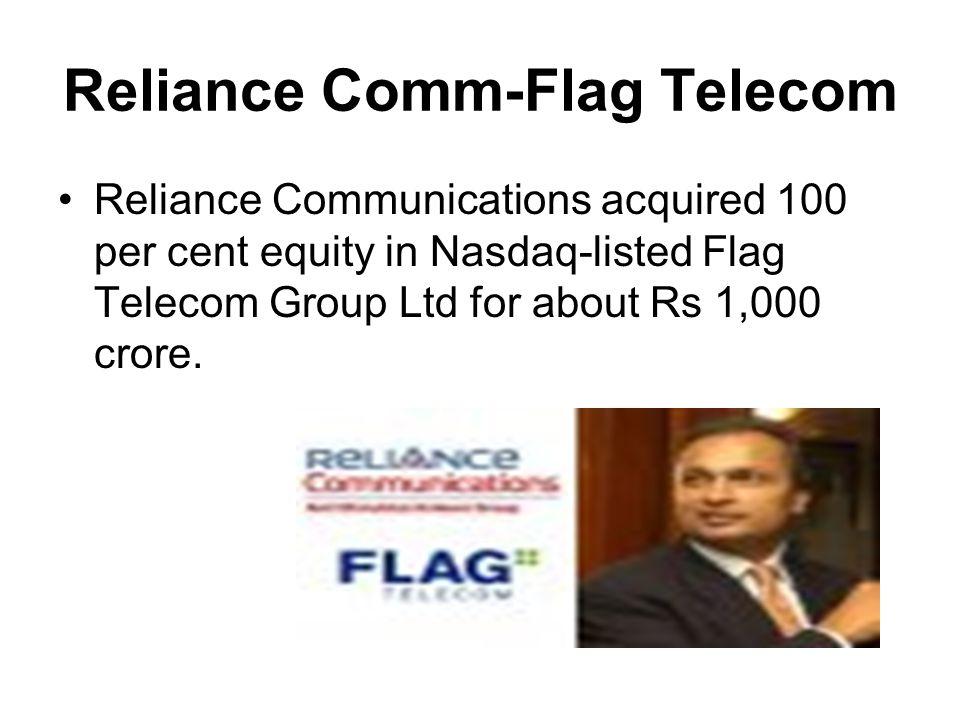 Reliance Comm-Flag Telecom