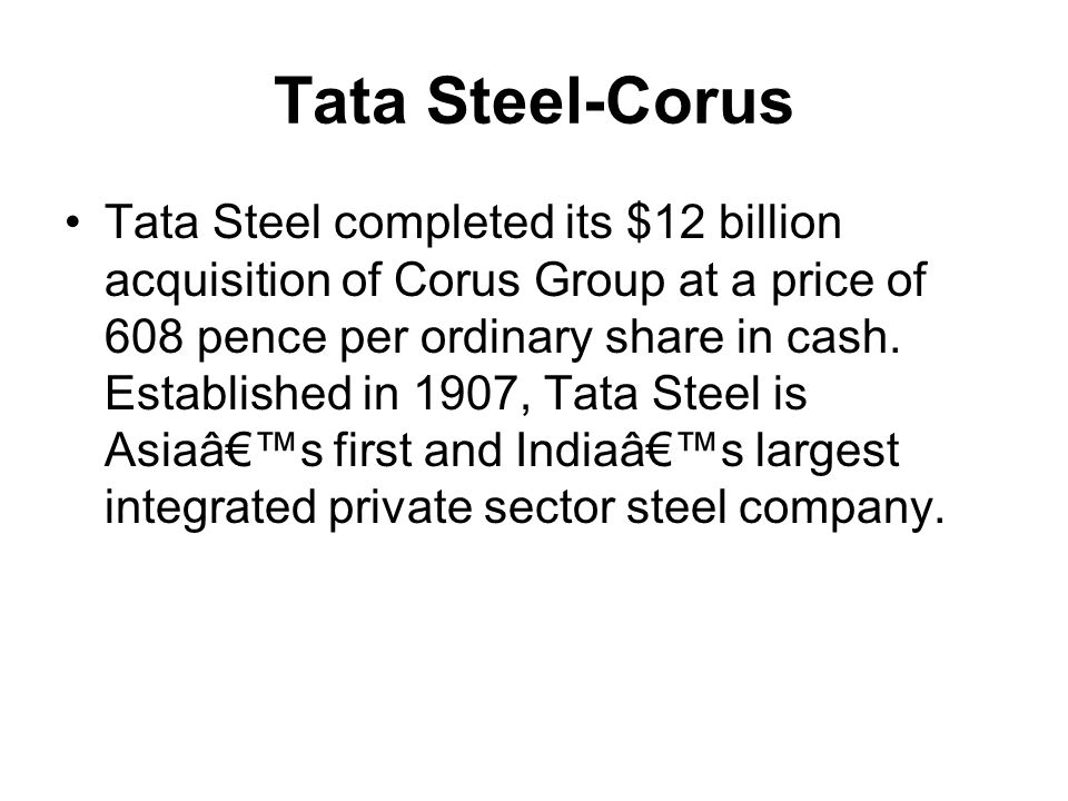 Tata Steel-Corus