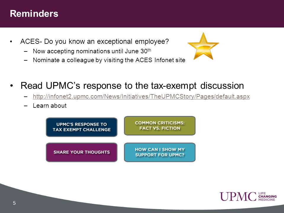 Read UPMC's response to the tax-exempt discussion