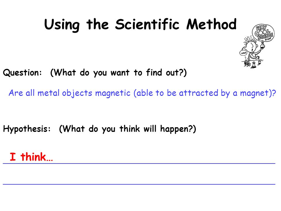 essay using scientific method Free essay: the scientific method is a process that outlines a number of principles for answering questions many people in day-to-day situations use the.