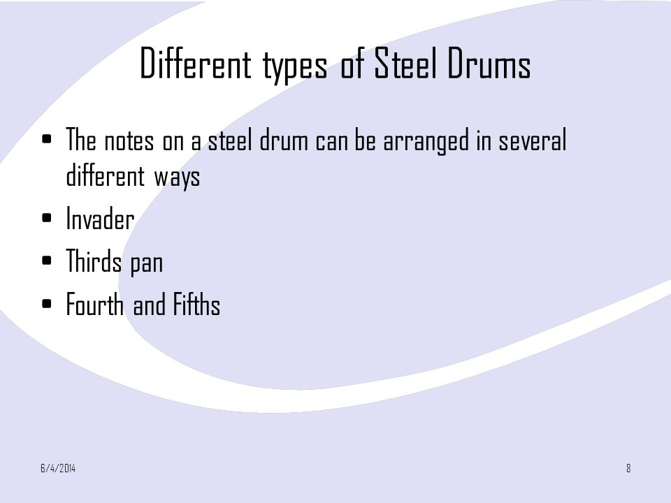 Different types of Steel Drums