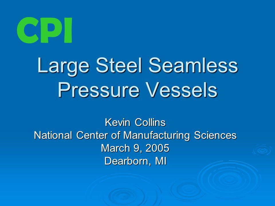 Large Steel Seamless Pressure Vessels