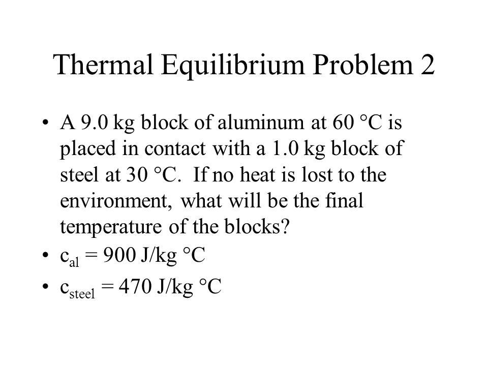 Thermal Equilibrium Problem 2