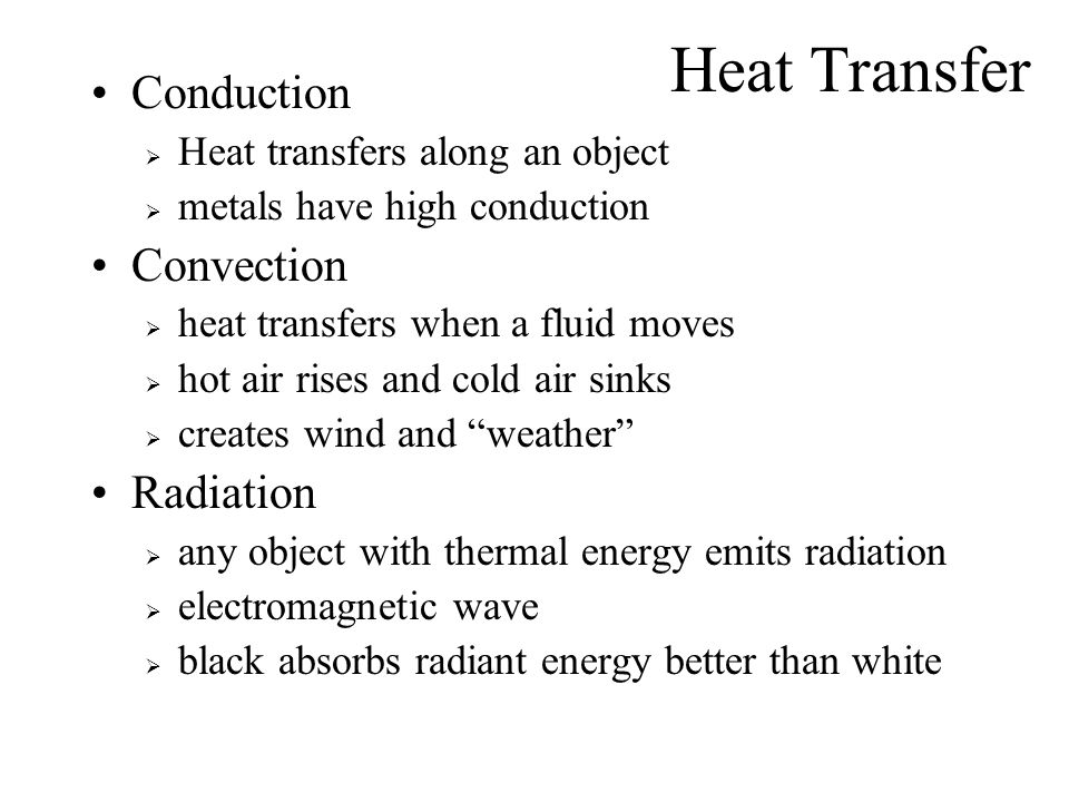 Heat Transfer Conduction Convection Radiation