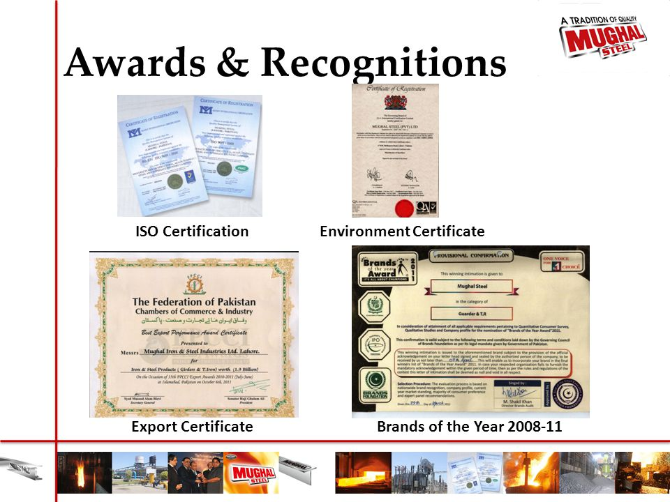Environment Certificate