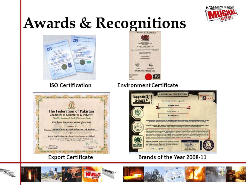 Environment Certificate