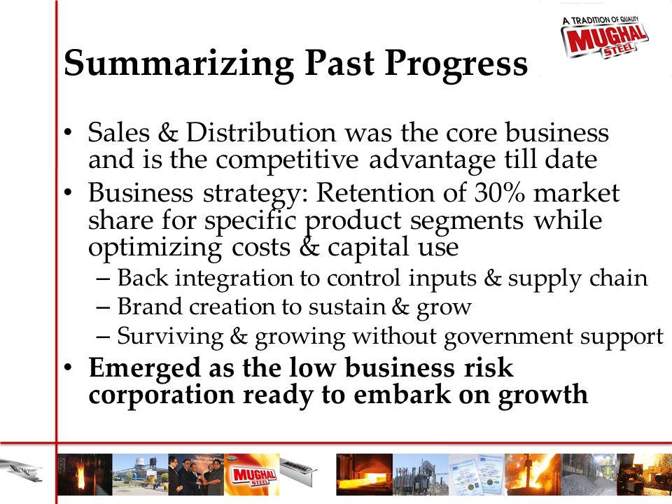 Summarizing Past Progress