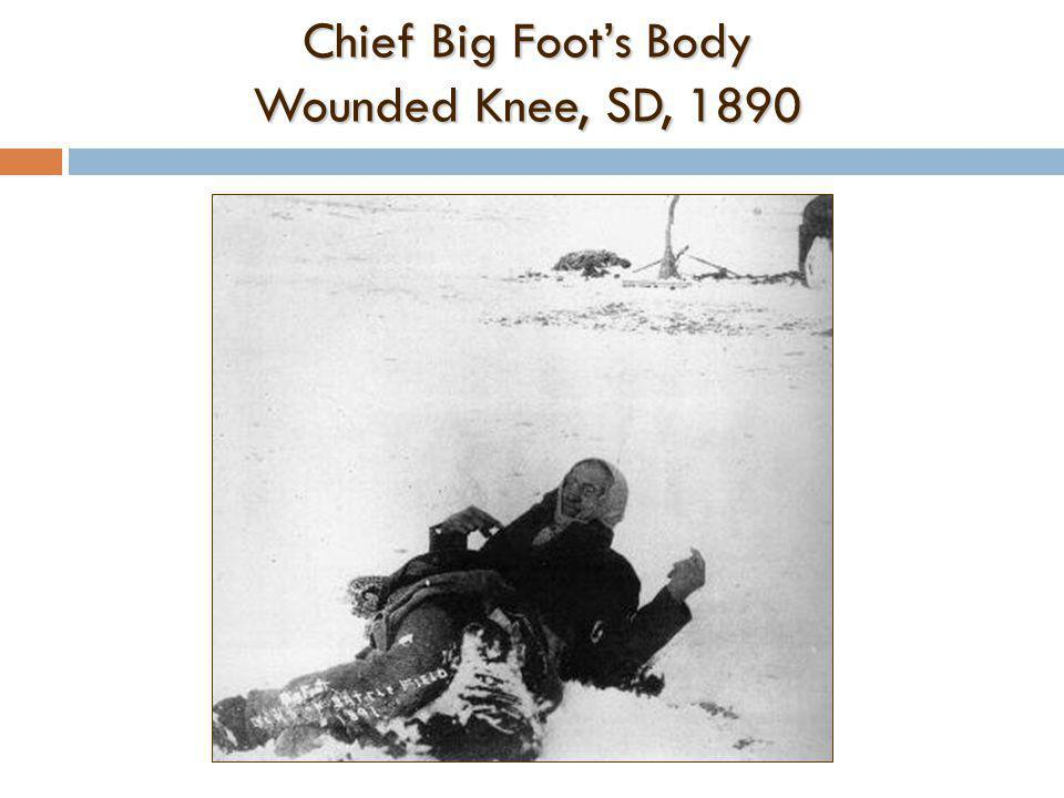 Chief Big Foot's Body Wounded Knee, SD, 1890