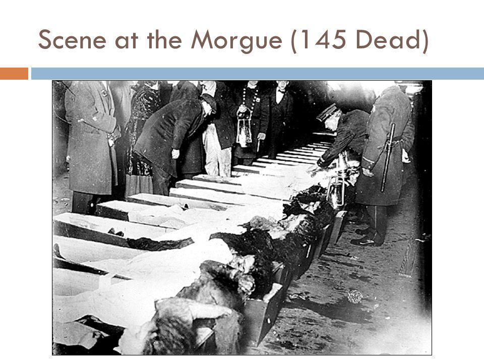 Scene at the Morgue (145 Dead)