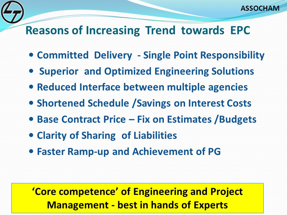 Reasons of Increasing Trend towards EPC