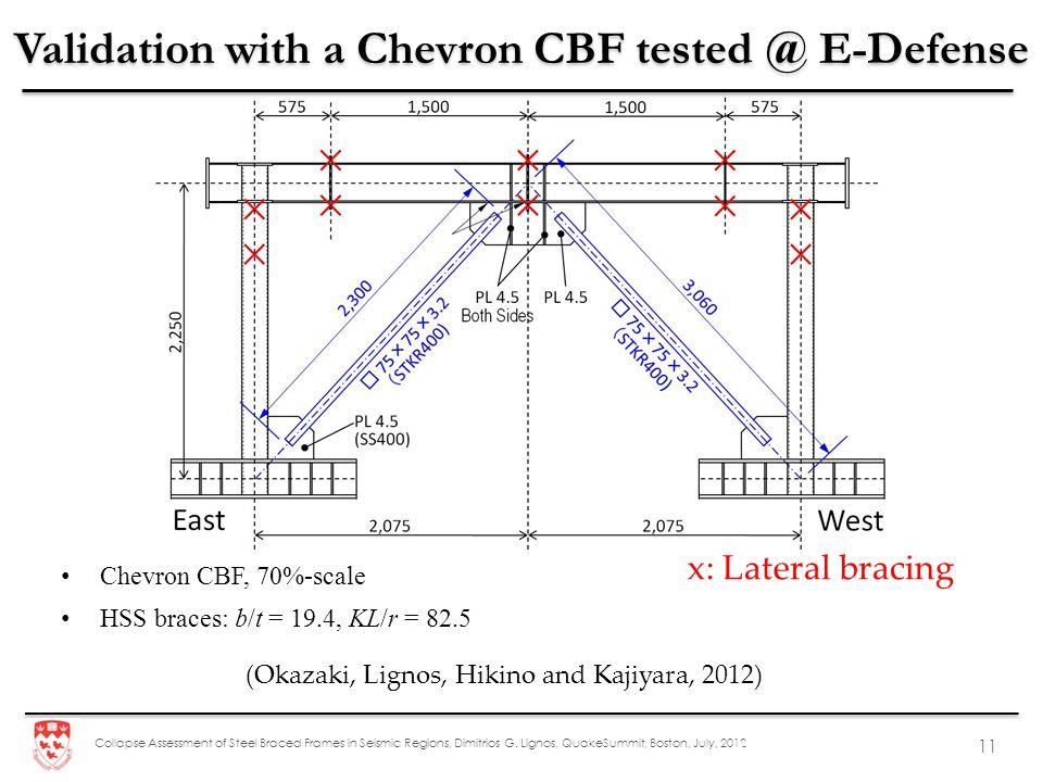 Validation with a Chevron CBF tested @ E-Defense