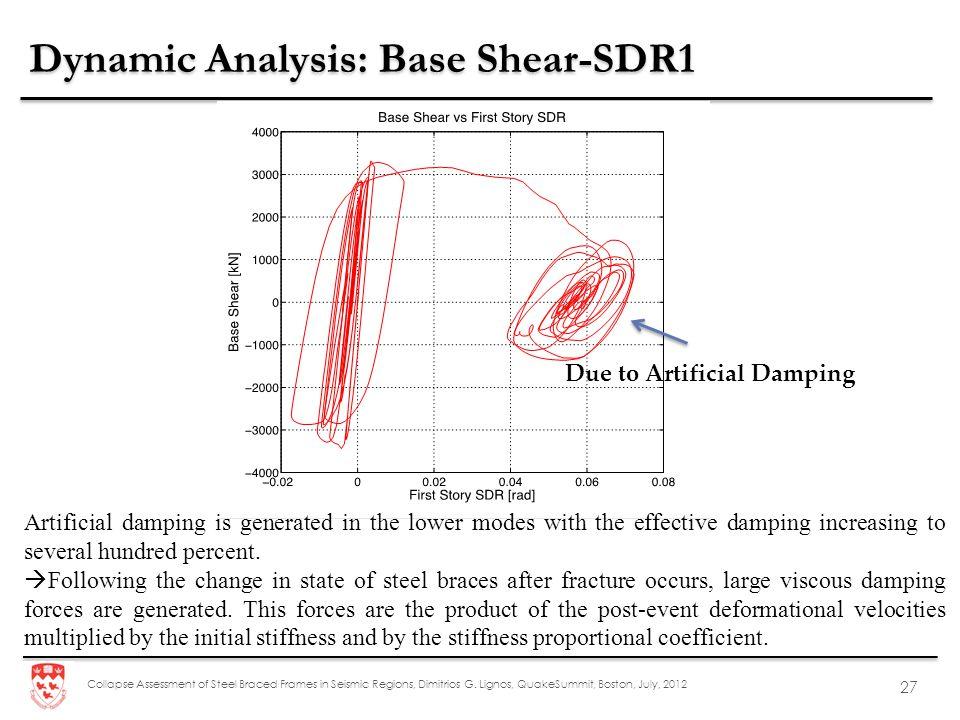 Dynamic Analysis: Base Shear-SDR1
