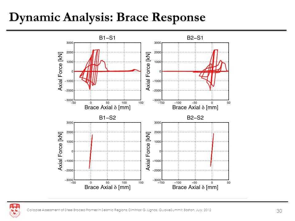 Dynamic Analysis: Brace Response