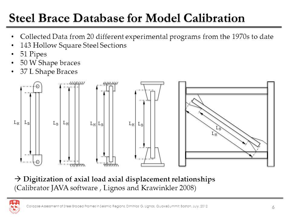 Steel Brace Database for Model Calibration