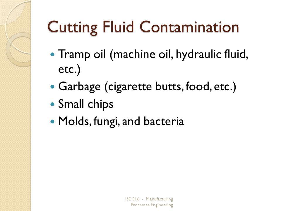 Cutting Fluid Contamination