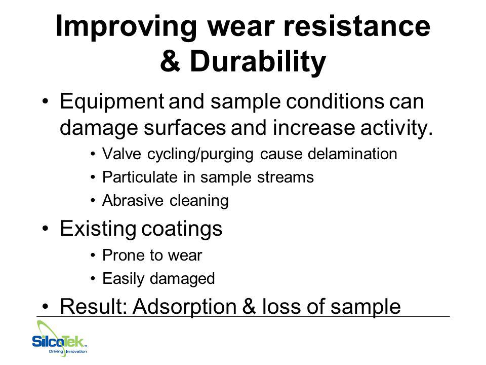 Improving wear resistance & Durability