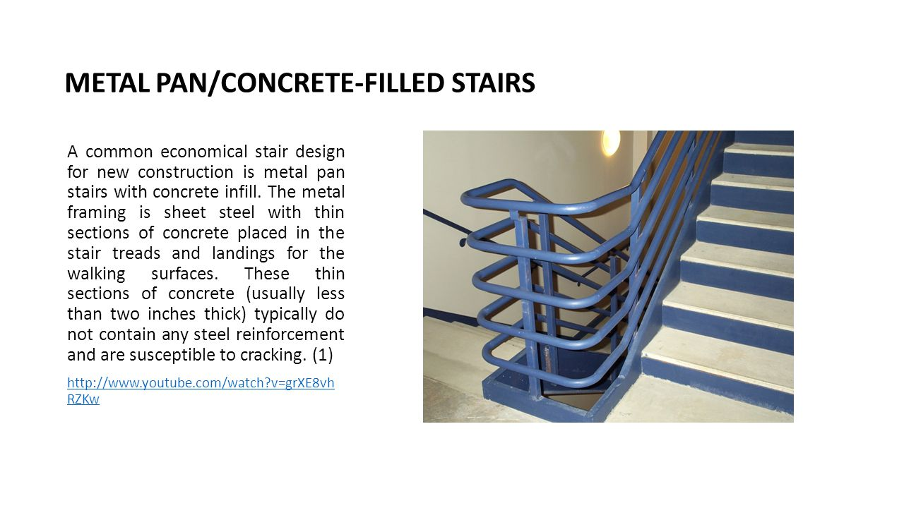 METAL PAN/CONCRETE-FILLED STAIRS
