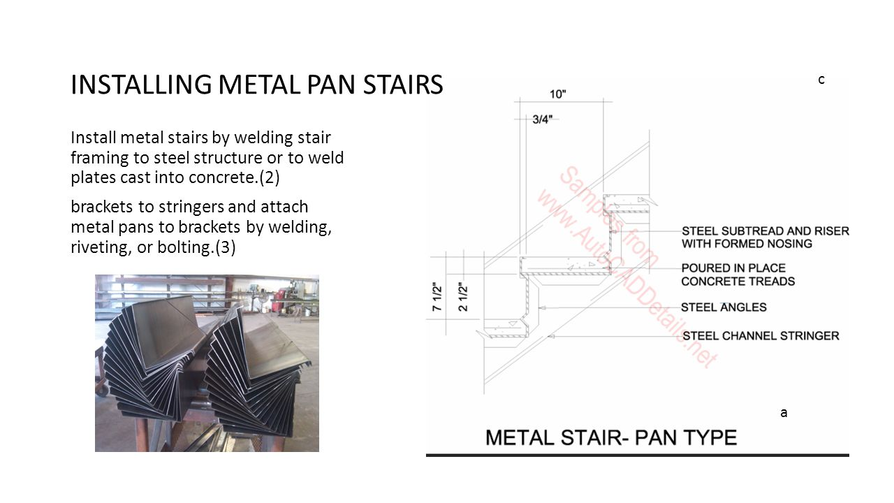 INSTALLING METAL PAN STAIRS