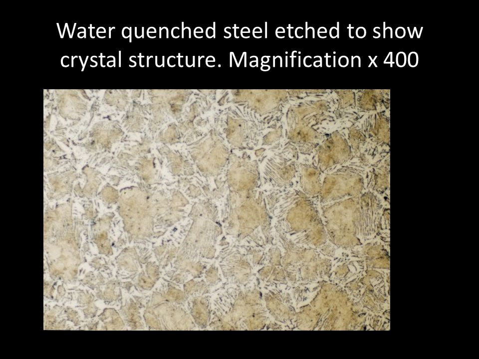 Water quenched steel etched to show crystal structure