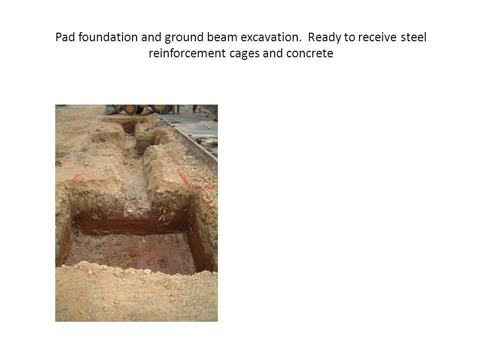 Pad foundation and ground beam excavation