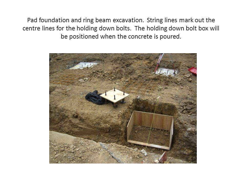 Pad foundation and ring beam excavation