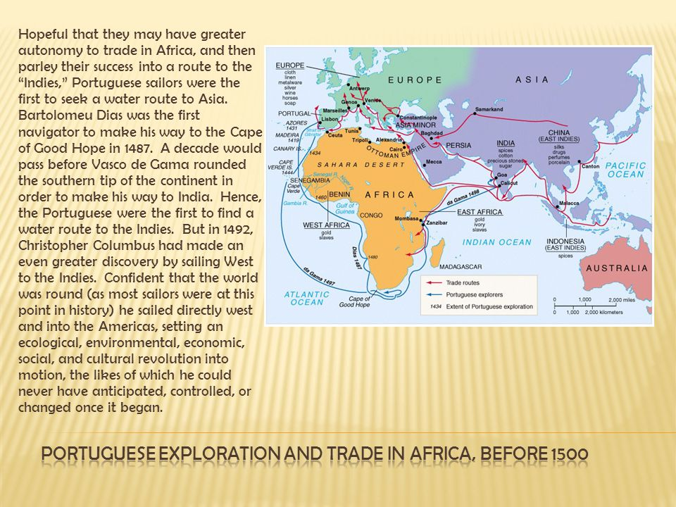 Portuguese exploration and trade in Africa, before 1500
