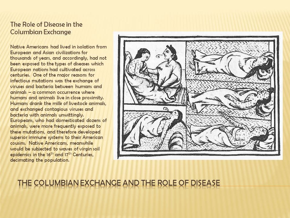 The Columbian Exchange and the role of disease
