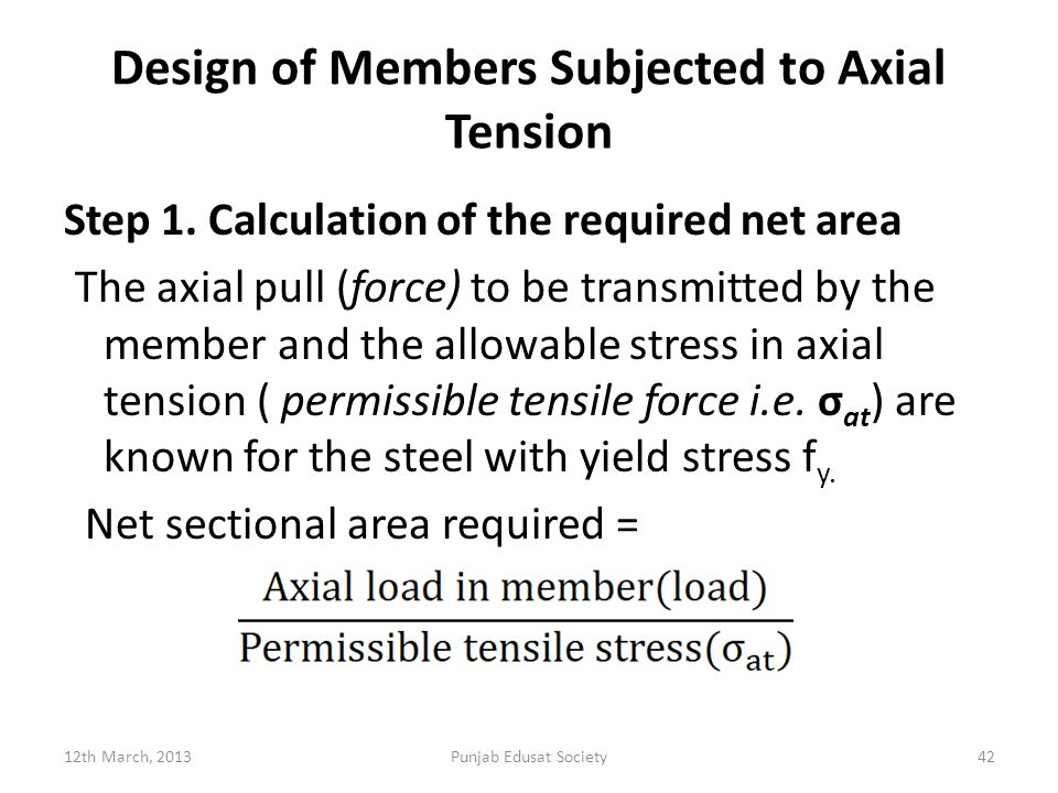 Design of Members Subjected to Axial Tension