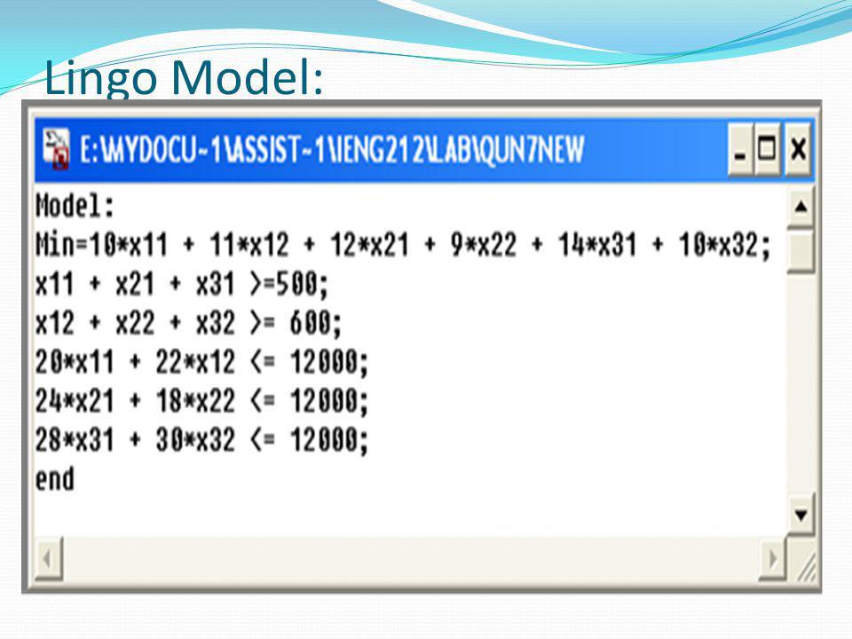 Lingo Model: