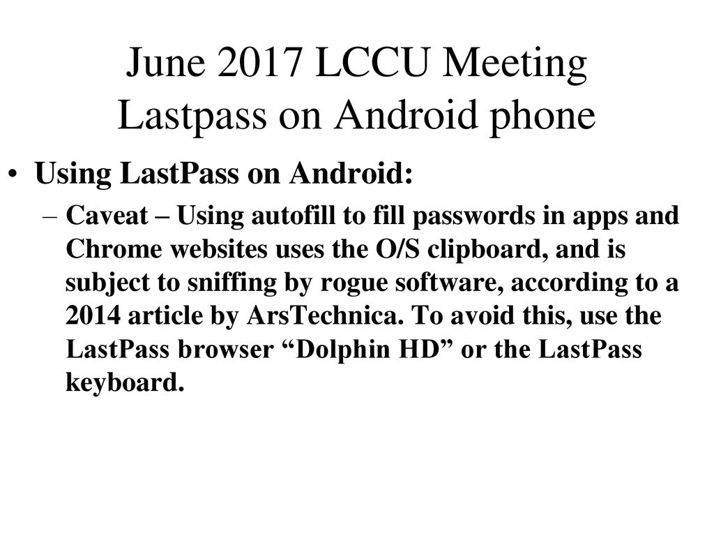 June 2017 LCCU Meeting We'll answers members' questions