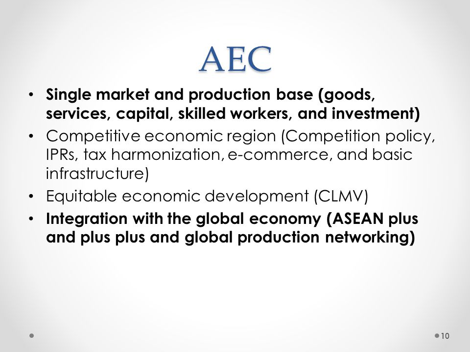 Overview of the ASEAN Economic Community