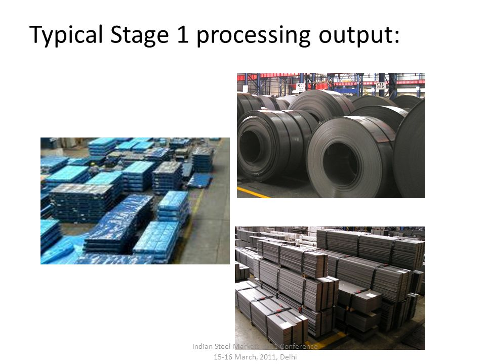 Typical Stage 1 processing output: