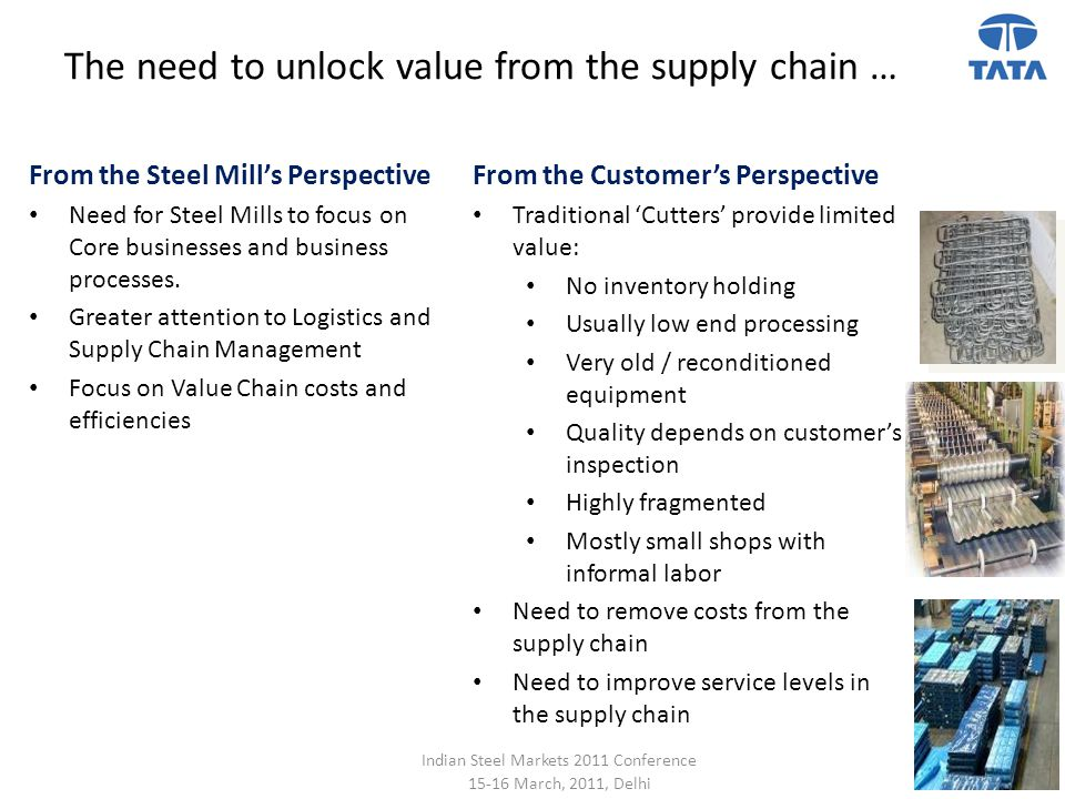 The need to unlock value from the supply chain …