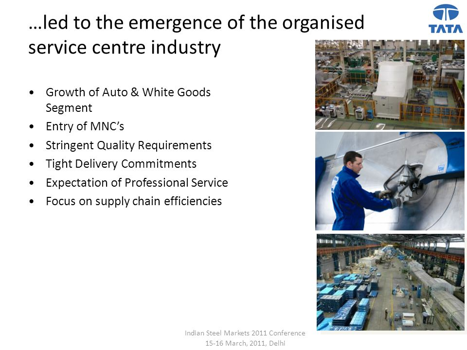 …led to the emergence of the organised service centre industry