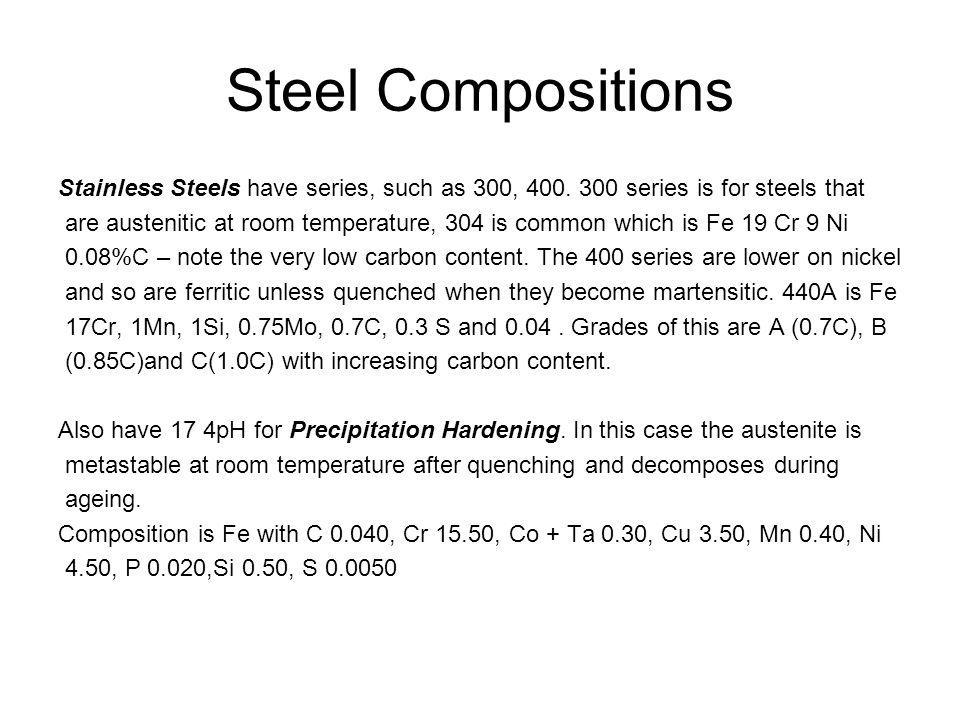 Steel Compositions