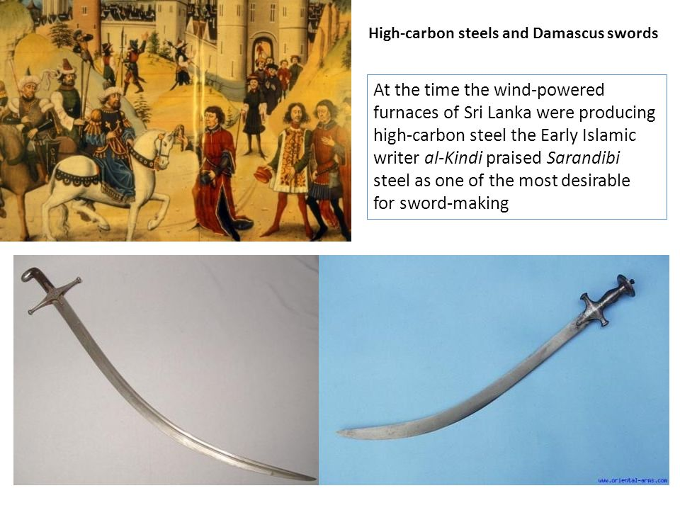 High-carbon steels and Damascus swords