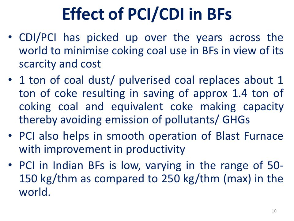 Effect of PCI/CDI in BFs