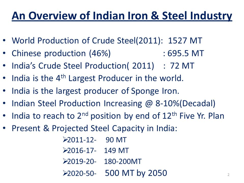 An Overview of Indian Iron & Steel Industry