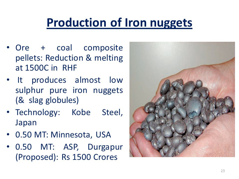 Production of Iron nuggets