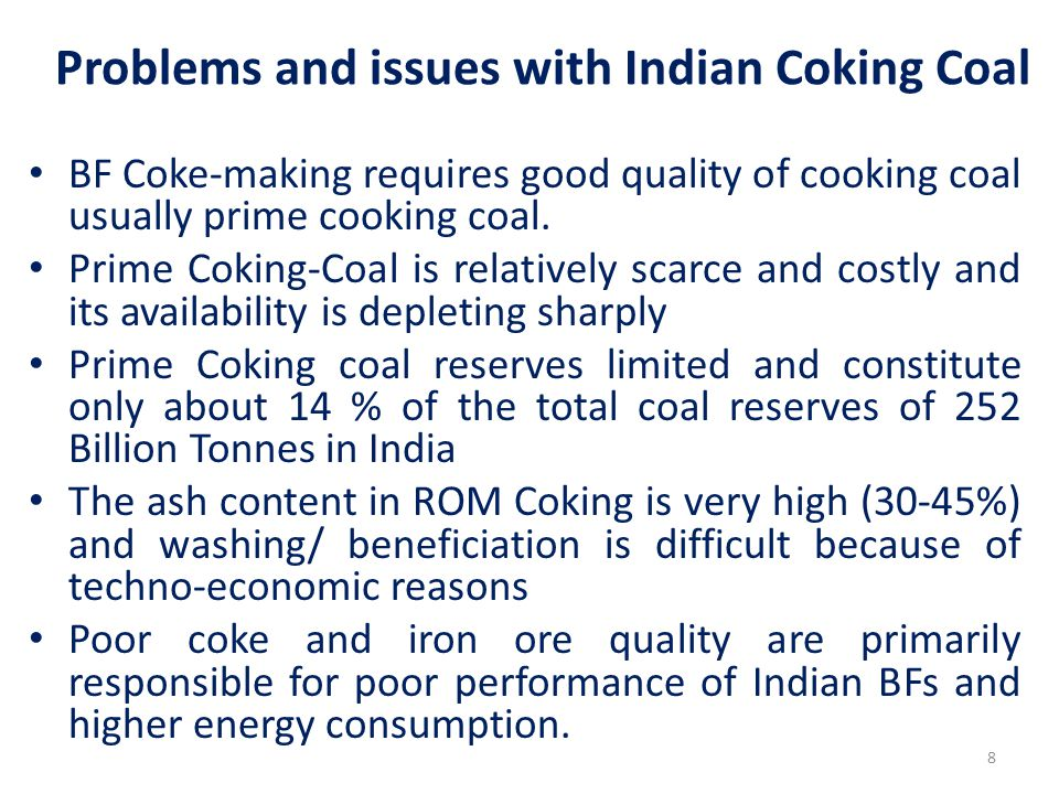 Problems and issues with Indian Coking Coal